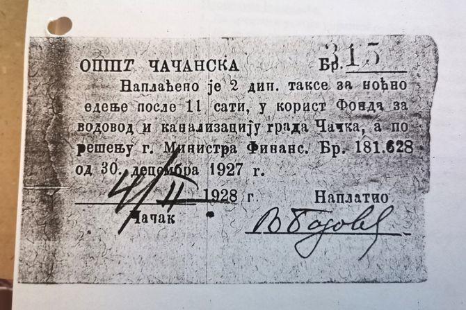 Noćna sedeljka u Čačku pre sto godina koštala je 2 dinara: Nije bilo korone, a ni bančenja bez globe