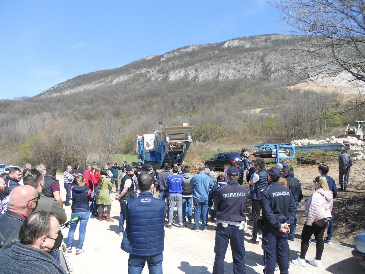 Protest na planini Baba zbog otvaranja kamenoloma