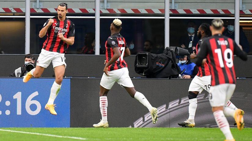 Zaboravite godine, Ibrahimović vredi svaki milion! Milanova pefekcija i veliko slavlje u gradskom derbiju (VIDEO)