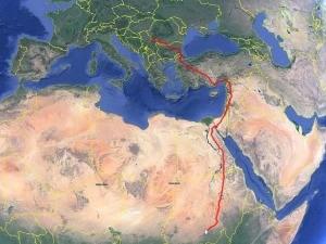 Огњенка, женка орла змијара из Вршца, стигла у Судан
