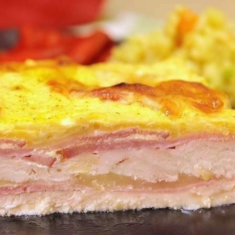 Belo meso sa sirom i šunkom iz rerne, nestvarno sočno i ukusno