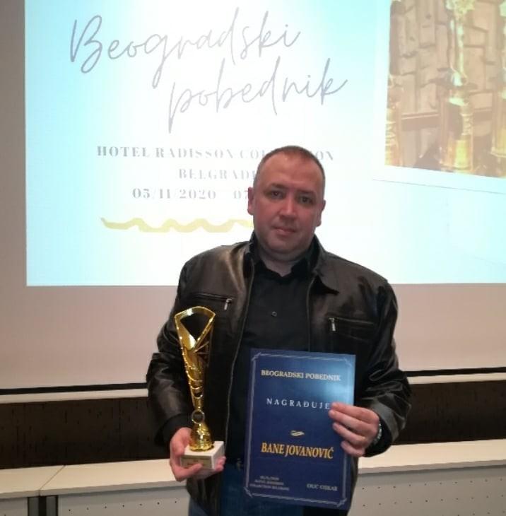 Nišlija Bane Jovanović dobitnik nagrade BEOGRADSKI POBEDNIK 2020