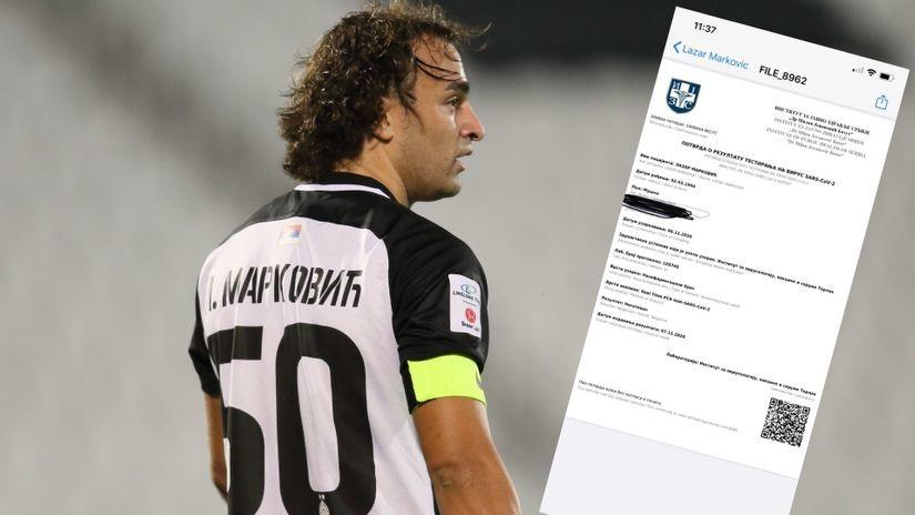 Pozitivno za Partizan – negativan Markec: Lazar Marković igra protiv Spartaka