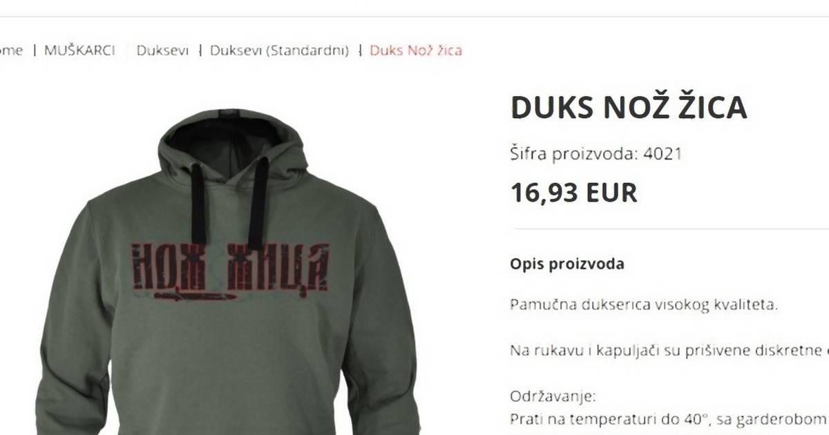 """Butik sa Novog Beograda prodavao dukseve sa printom """"nož, žica"""" dok ih nisu provalili na društvenim mrežama"""