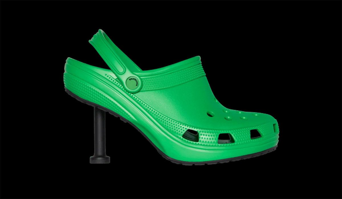 Balenciaga i Crocs papuče na štiklu za proleće 2022.