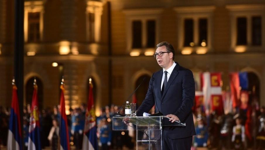 DAN SRPSKOG JEDINSTVA UŽIVO: Vučić poručio - Nikada više za srpsku trobojku nećemo nikome da se izvinjavamo (FOTO/VIDEO)