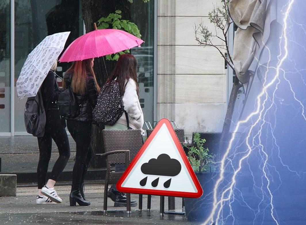 Stiže nevreme! Hitno UPOZORENJE RHMZ: U ovom delu Srbije očekuju se pljuskovi, GRAD i jak vetar