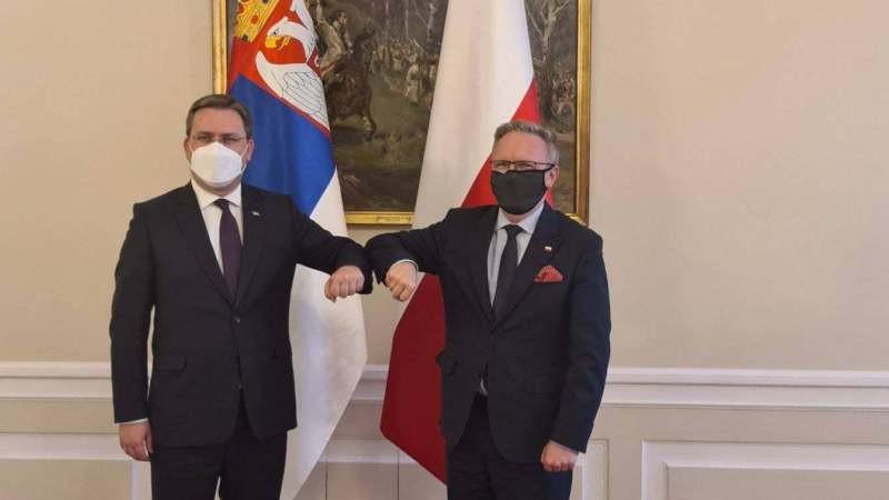Ministar spoljnih poslova Srbije u Poljskoj: Odnosi dobri, dve zemlje povezuje prijateljstvo