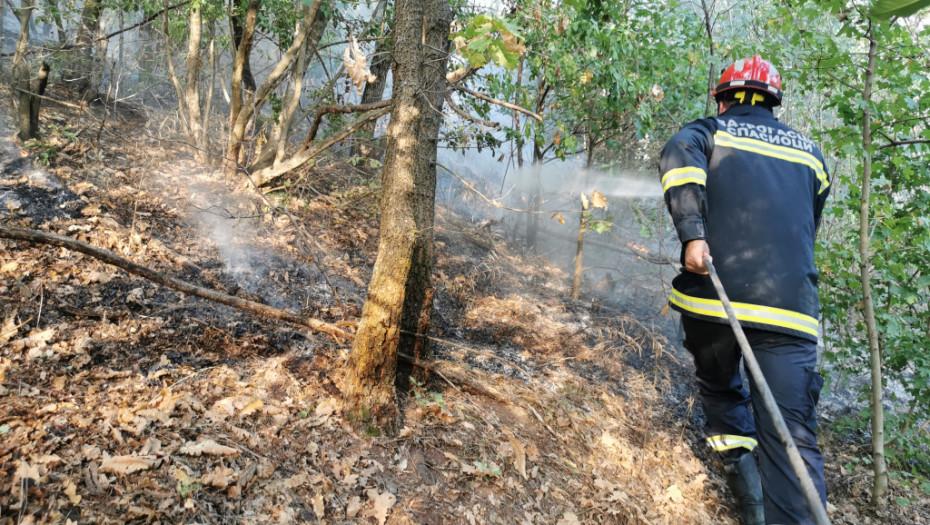 ŠUMSKI POŽAR U SELU PORED ČAČKA Vatrogasci se bore sa vatrenom stihijom (VIDEO)