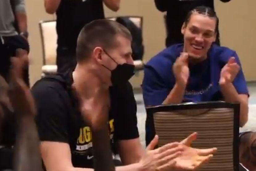 Ovo je momenat kada je Jokič proglašen za MVP-a, slavlje je odmah počelo (VIDEO)