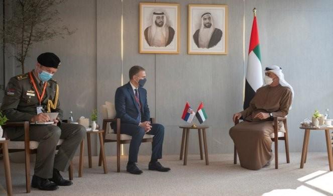 Stefanović sa bin Zajedom: UAE nastavlja saradnju sa Srbijom!