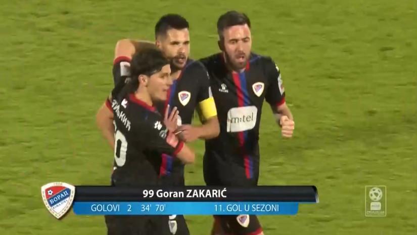 Strašan gol Zakarića, Borac dobio derbi i vratio se u trku za titulu (VIDEO)