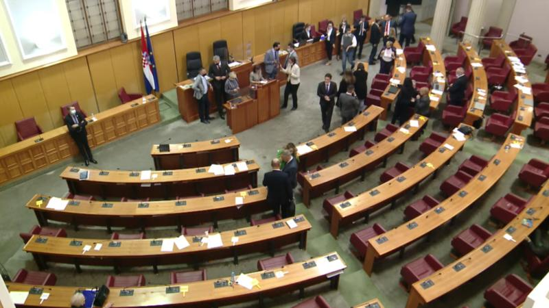 Opozicija u Hrvatskoj opstruira rad Sabora