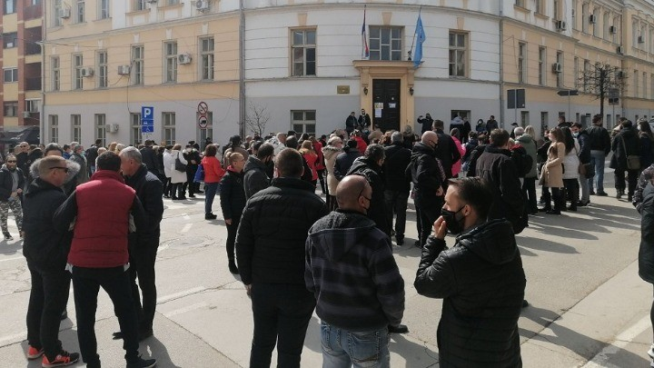 Protest malih preduzetnika u Aleksincu