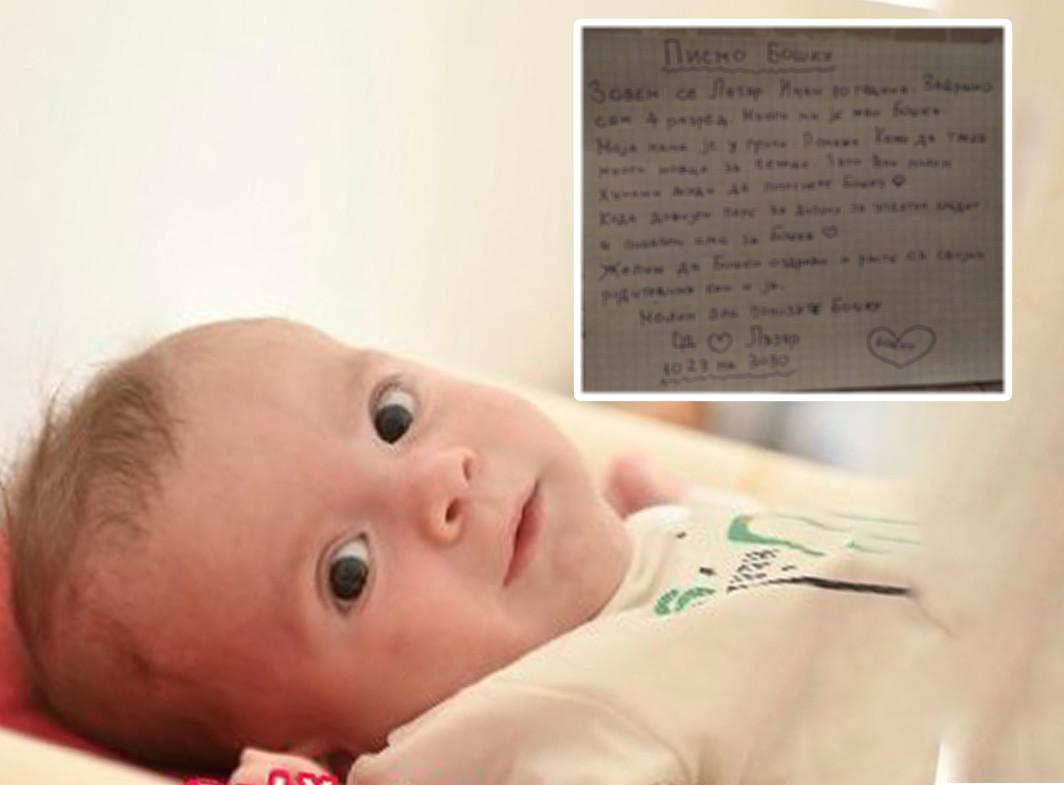 Lekcija iz humanosti! Lazar (10) želi da pomogne malom Bošku: Njegovo pismo tera SUZE na oči (FOTO)