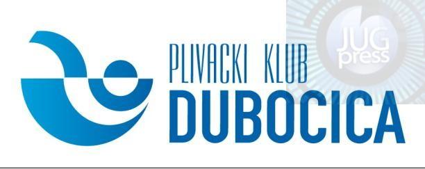 """Plivačima  """"Dubočice"""" 25 medalja"""