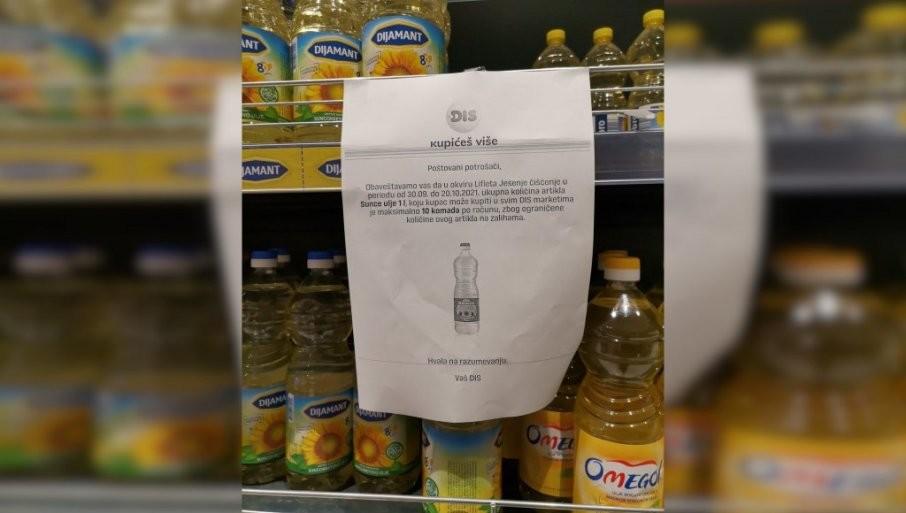 """OGRANIČILI KUPOVINU ZEJTINA: Pomama za uljem pojedine trgovce naterala da """"obuzdaju"""" potrošače"""