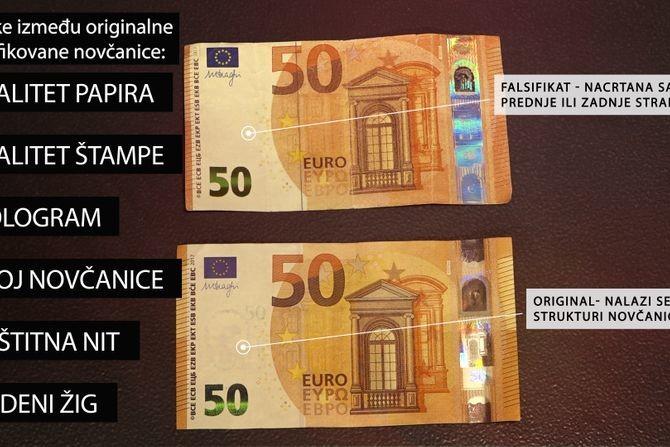 Lažna novčanica od 50 evra kruži Beogradom: Samo ovako ćete prepoznati falsifikat