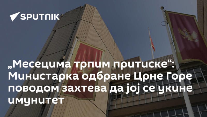 """""""Месецима трпим притиске"""": Министарка одбране Црне Горе поводом захтева да јој се укине имунитет"""