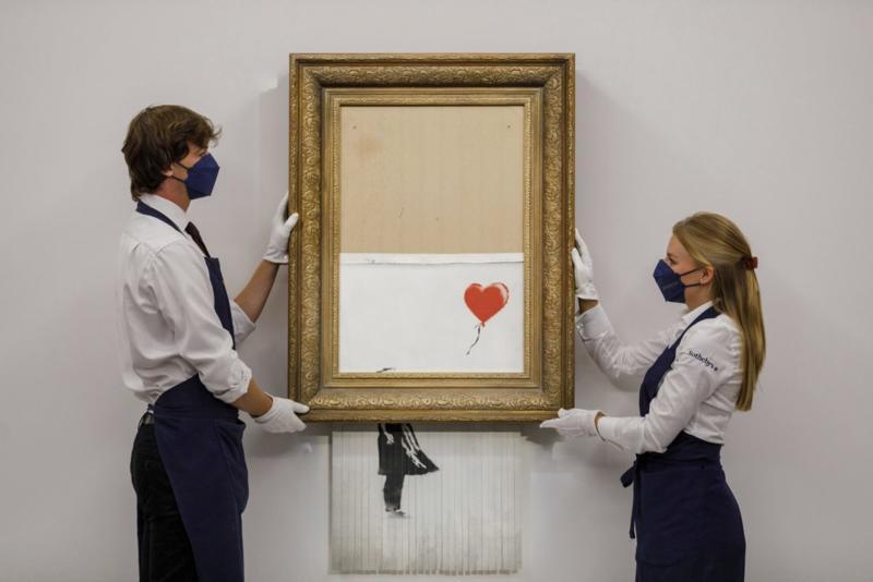 Izrezano delo Benksija prodato za 25,4 miliona dolara