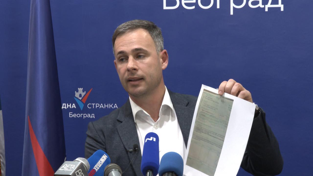 Aleksić pokazao carinsku dozvolu koju je Koluvija dobio za uvoz opreme