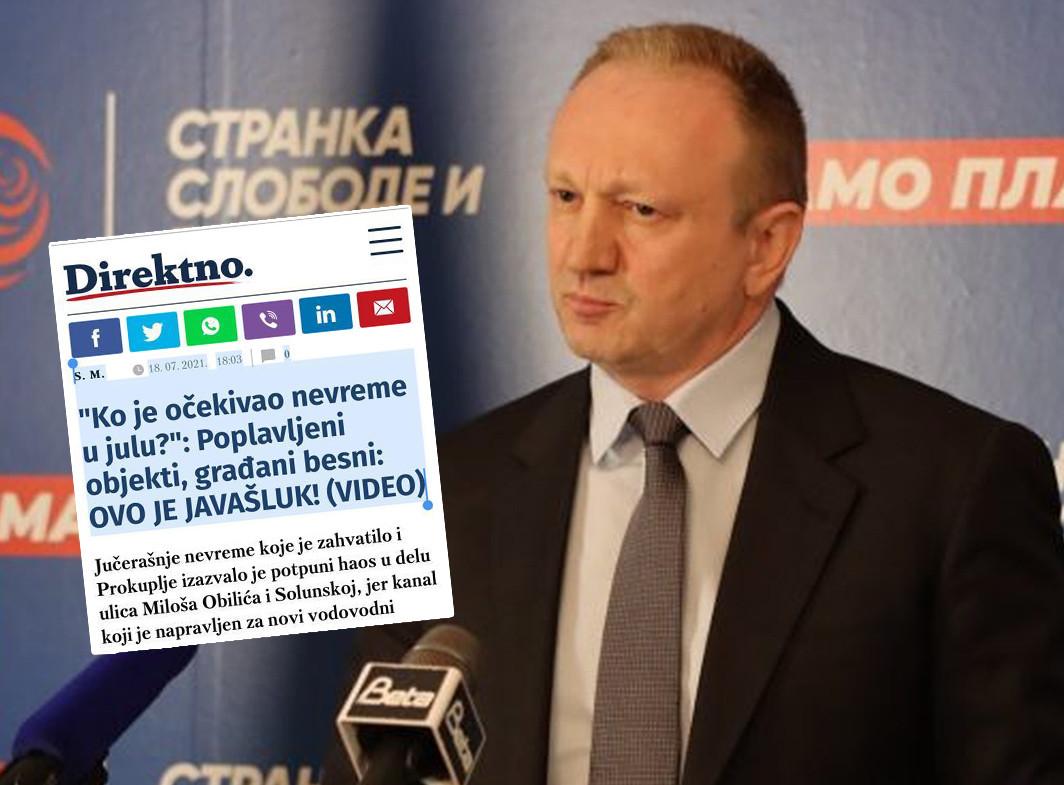 Đilasovom BEZOBRAZLUKU nema kraja: Ismeva i ponižava Srbiju zbog poplave u Prokuplju (FOTO)