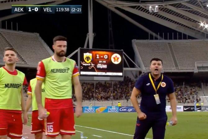 Sočne psovke na srpskom i svađa klupe AEK-a i Veleža: Kome je to trener iz BiH pominjao majku?