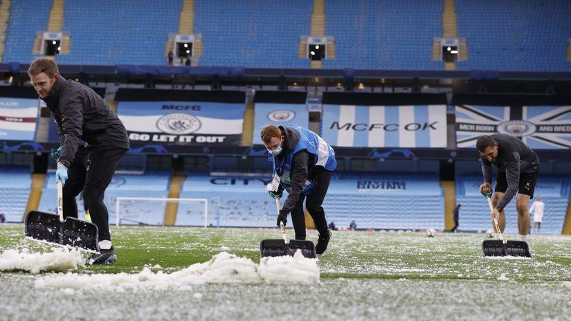 FOTO UBOD: Sneg u maju na Ligi šampiona