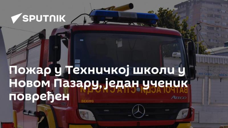 Пожар у Техничкој школи у Новом Пазару, један ученик повређен