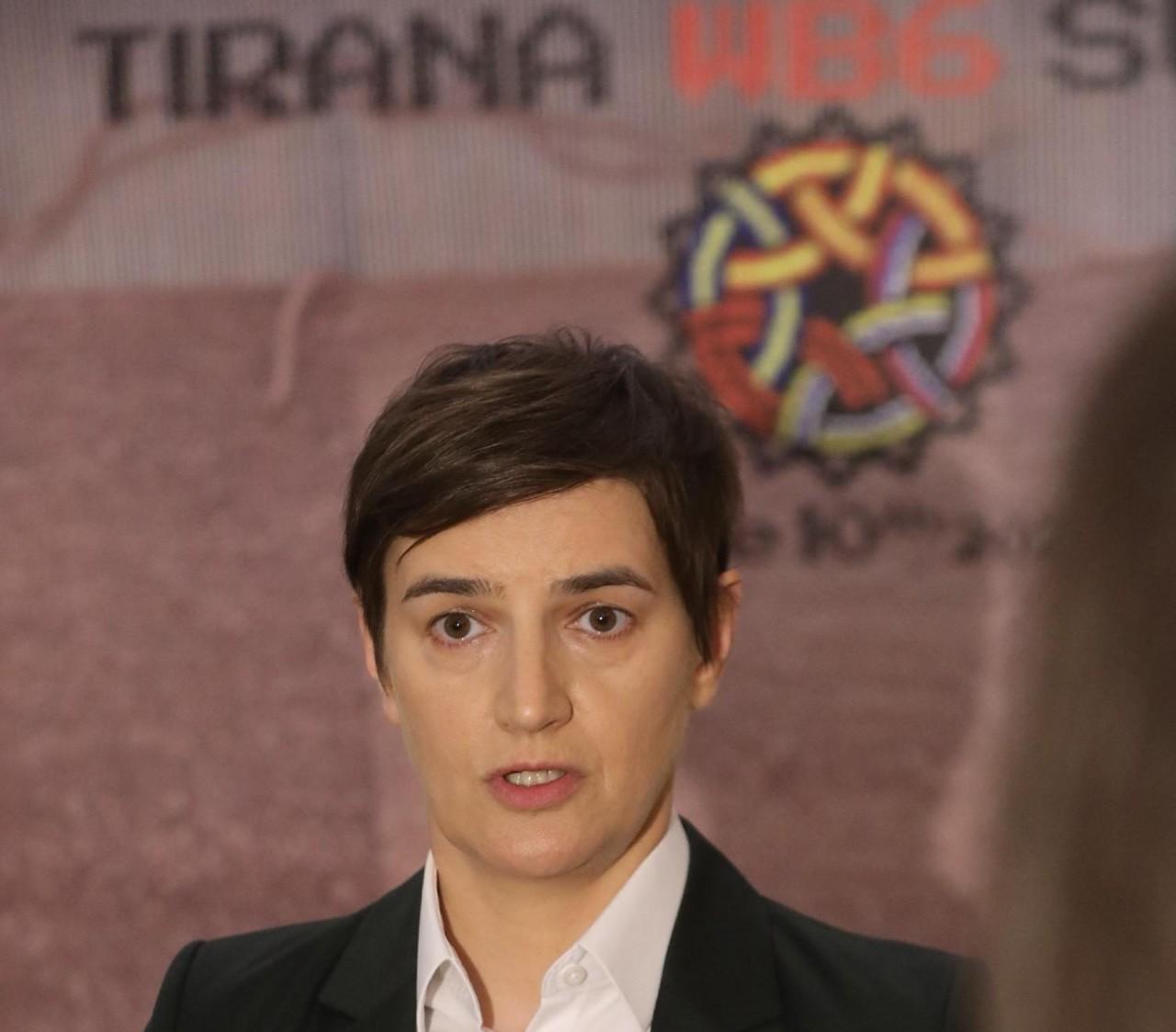 Polemika Brnabić i Kurtija u Tirani, srpska premijerka: Nismo jednaki partneri