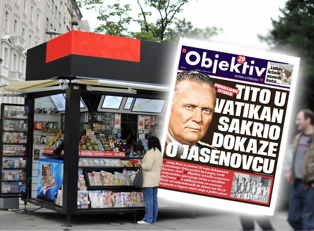 Sutra u novinama Objektiv: Tito sakrio dokaze o Jasenovcu, prekrajanje istorije… (NASLOVNA STRANA)