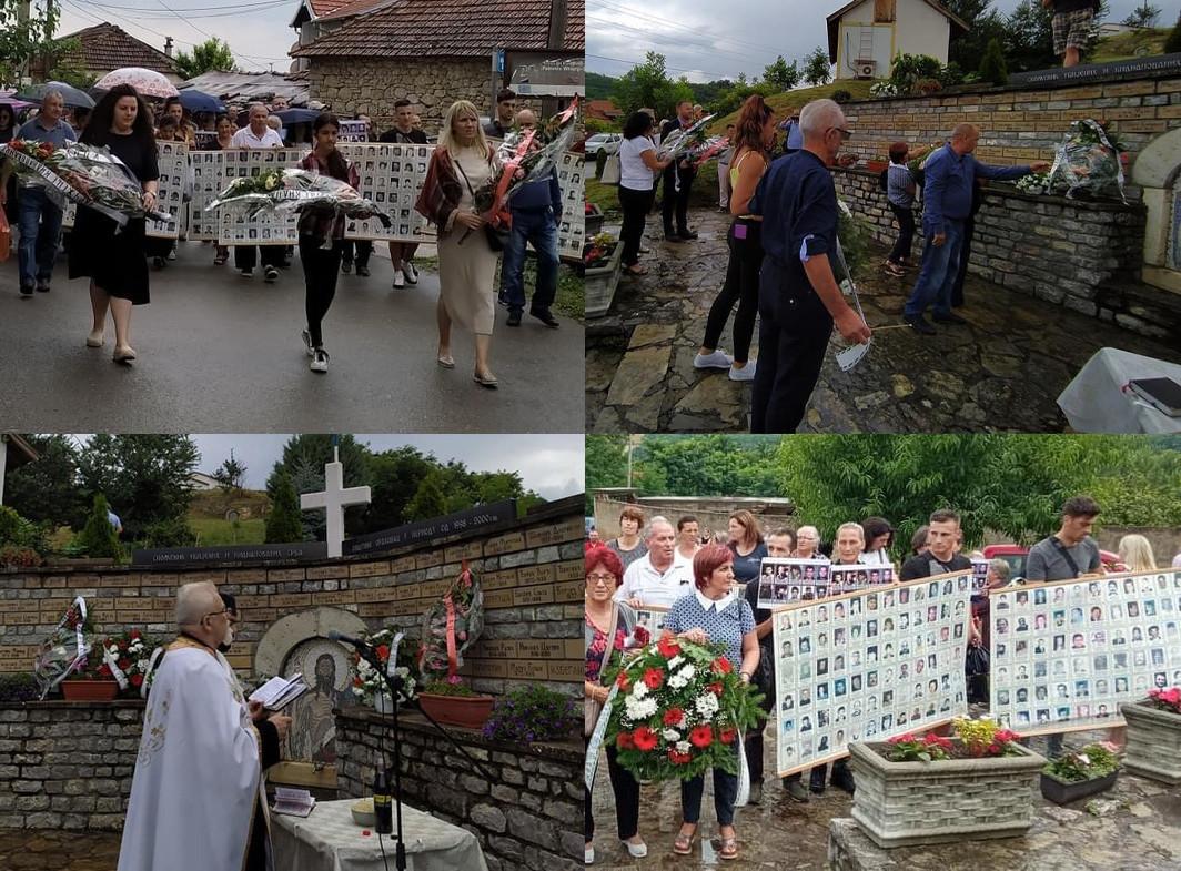 Da se nikad ne zaboravi: Obeležena godišnjica ubistava 36 srpskih civila u Orahovcu (FOTO)