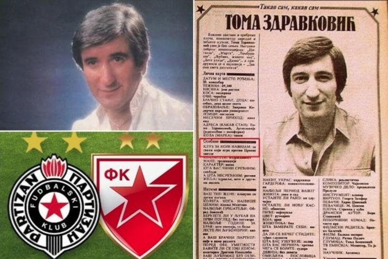 """VEČNA MISTERIJA BOEMSKOG ŽIVOTA Za koga je navijao Toma Zdravković? """"Delije"""" dokazale da je VOLEO, """"grobari"""" da je MRZEO Zvezdu"""